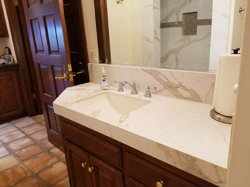 After bath remodeling counters in bathroom