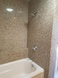 Shower in bath remodel